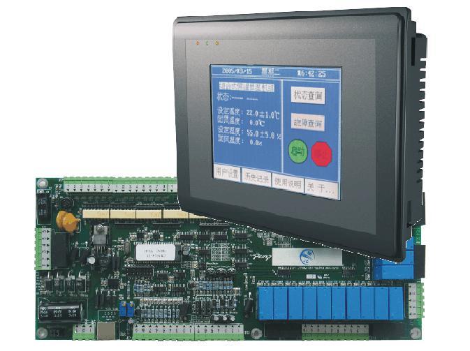 冷水机控制器,plc触摸屏控制板,冷水机控制系统